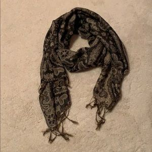 Sparkle scarf with ruffle tassels gold vintage